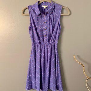 Madison Jules polka dot dress sleeveless size S